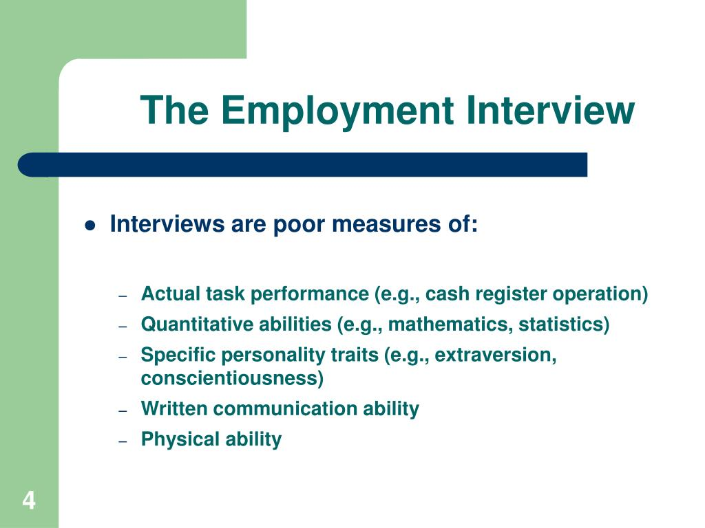 The Employment Interview