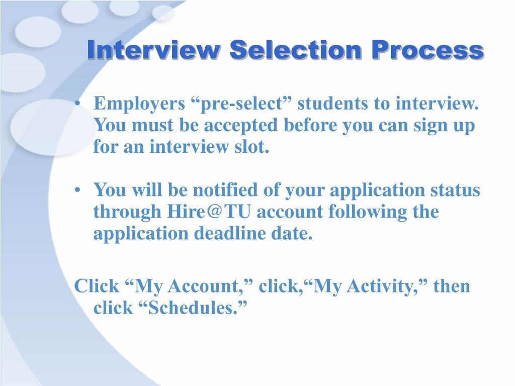 Interview Selection Process