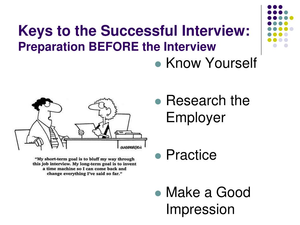 Keys to the Successful Interview: