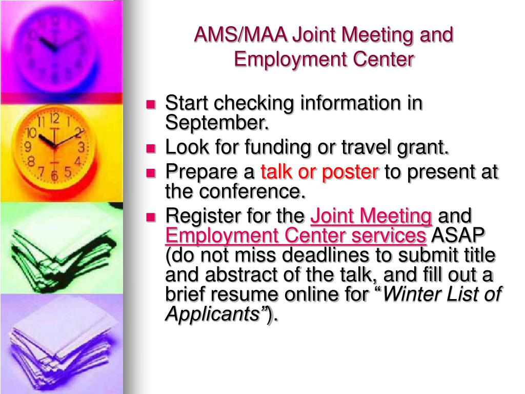 AMS/MAA Joint Meeting and Employment Center