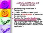 ams maa joint meeting and employment center