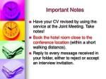 important notes14