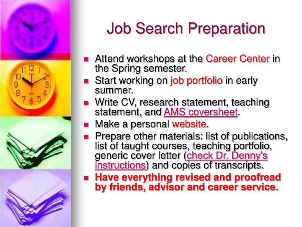 Job Search Preparation