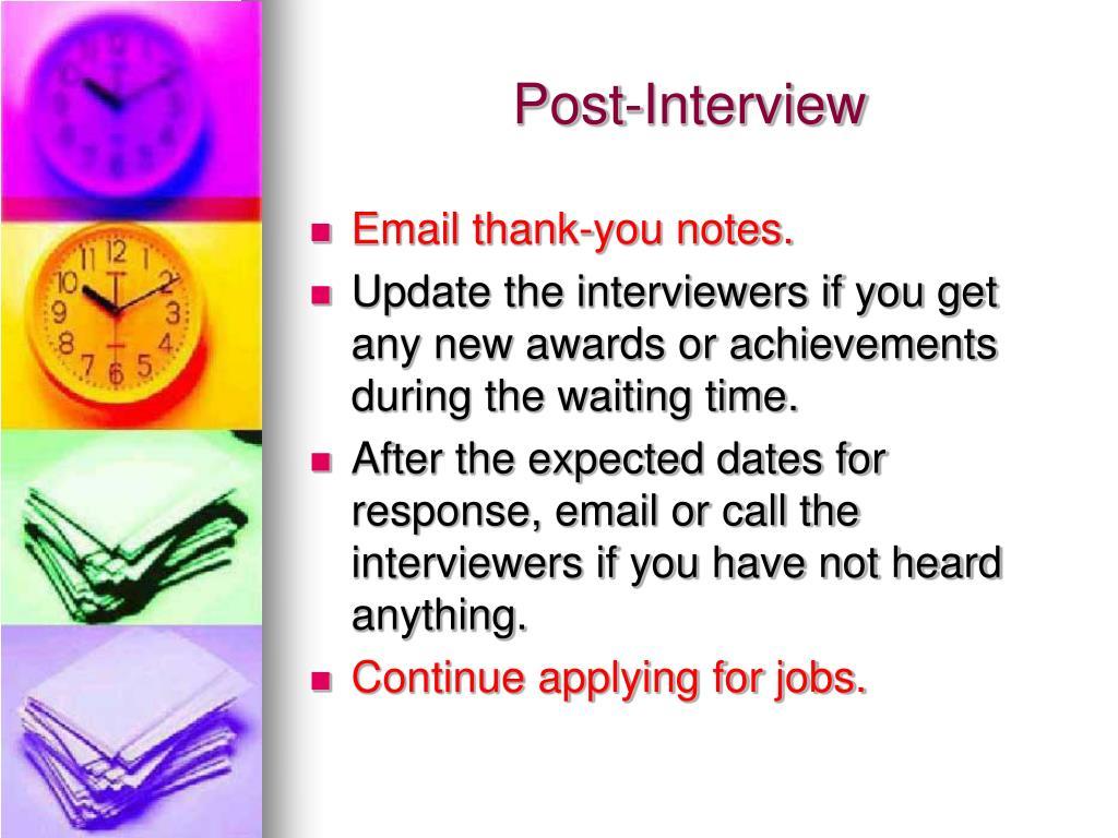 Post-Interview
