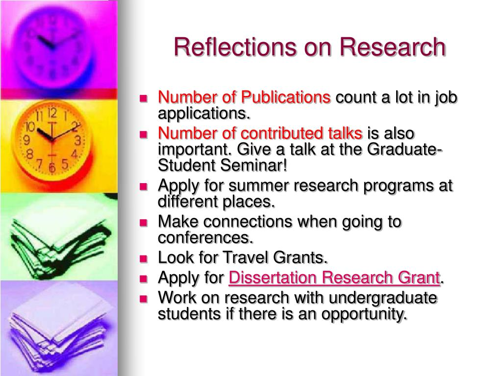 Reflections on Research