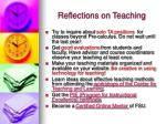 reflections on teaching