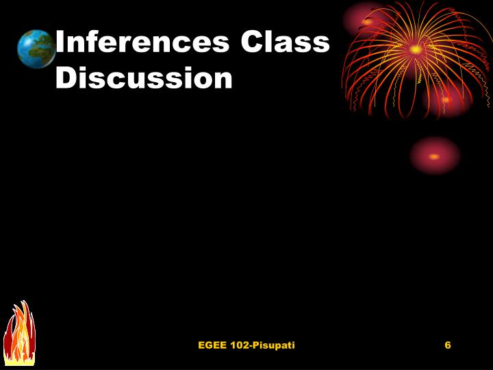 Inferences Class Discussion
