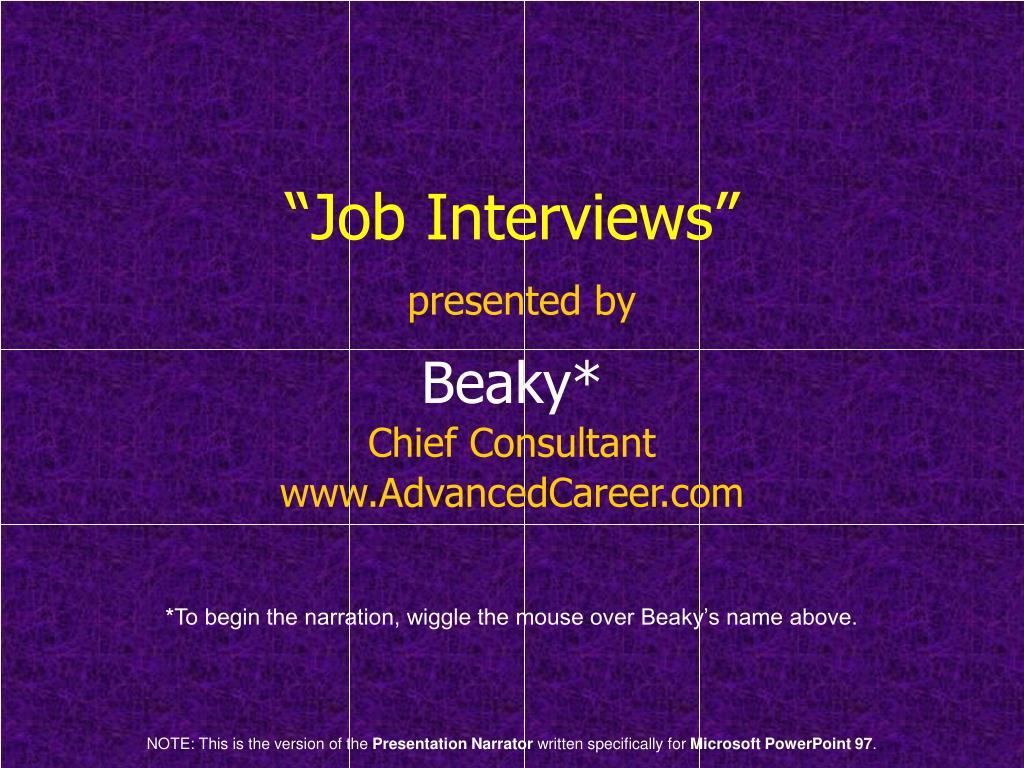 """""""Job Interviews"""""""