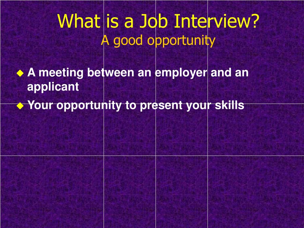 What is a Job Interview?