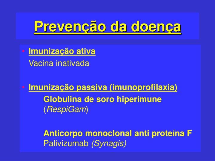 Prevenção da doença