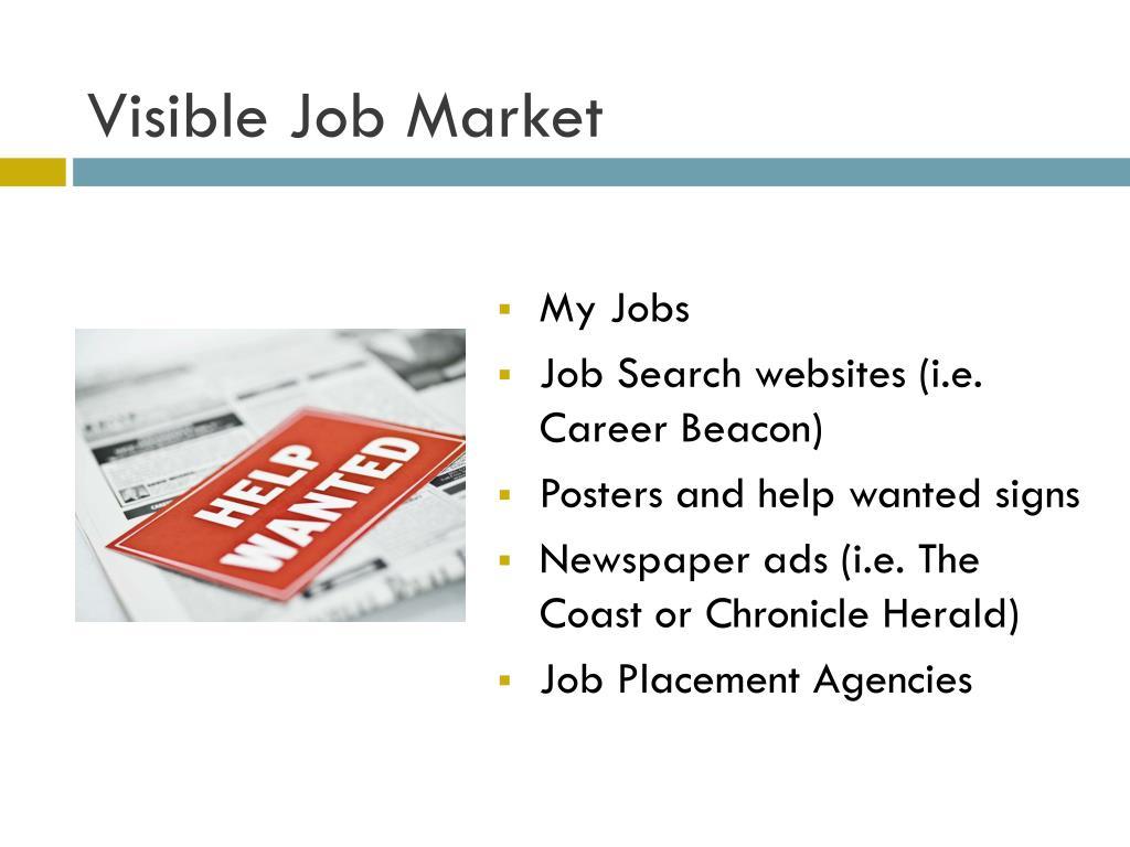 Visible Job Market