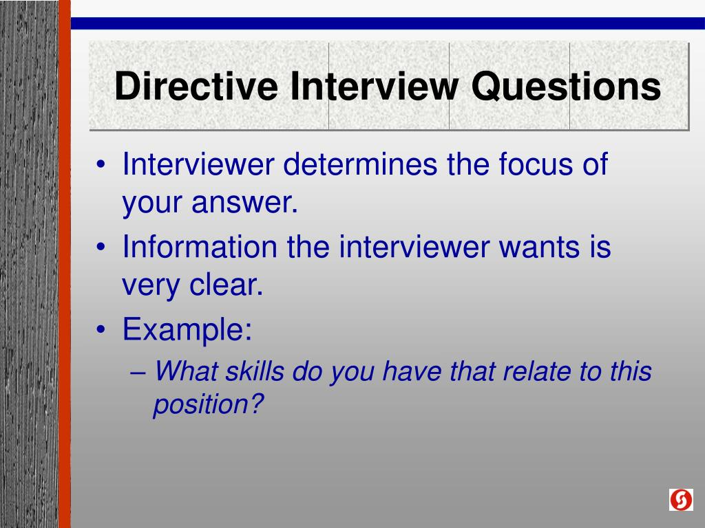 Directive Interview Questions