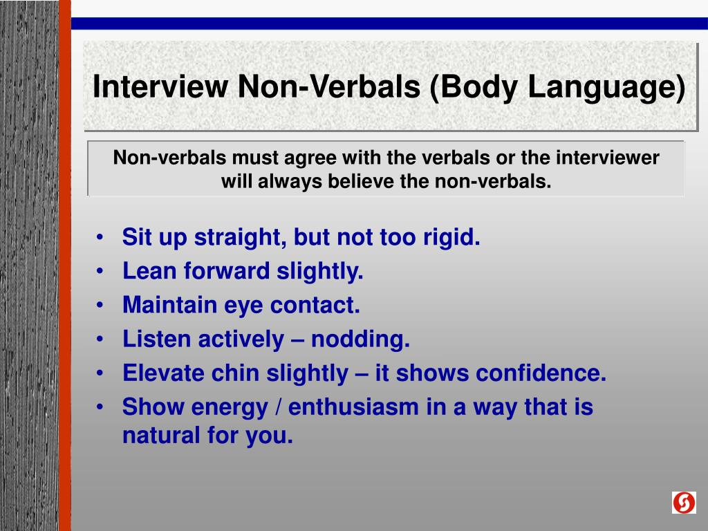 Interview Non-Verbals (Body Language)