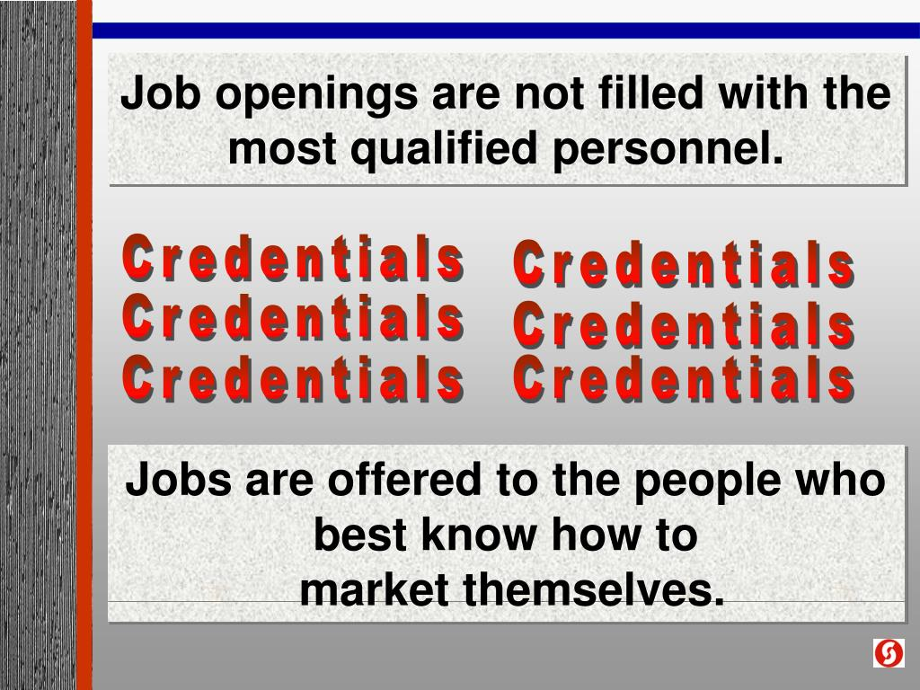 Job openings are not filled with the most qualified personnel.