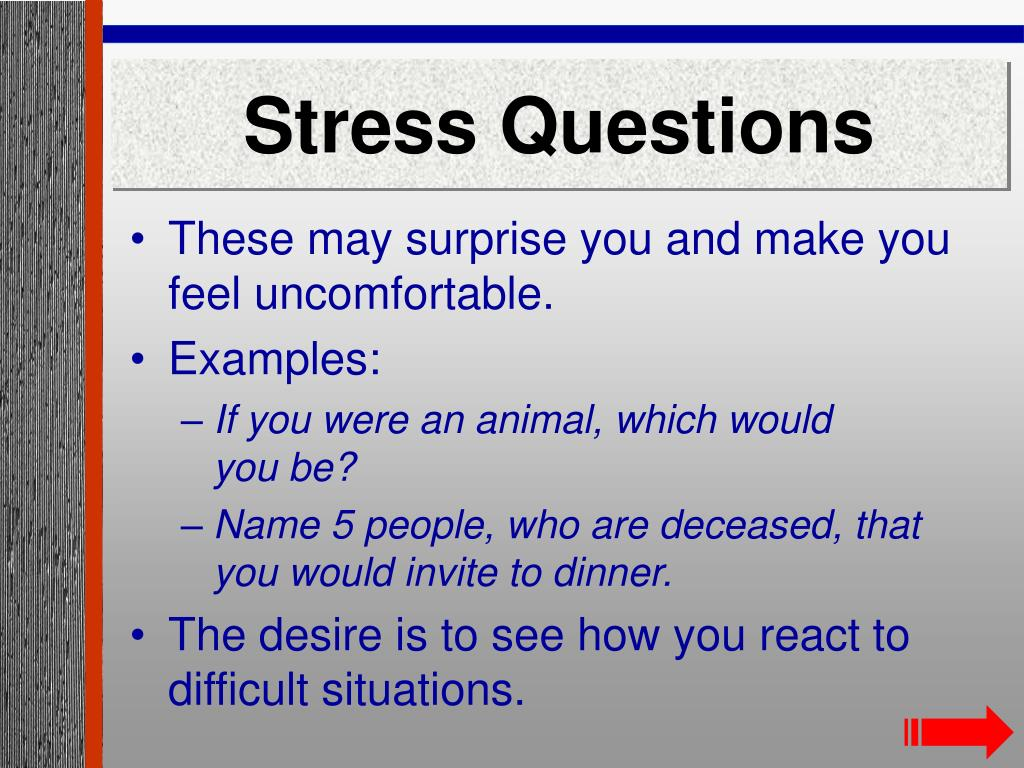 Stress Questions