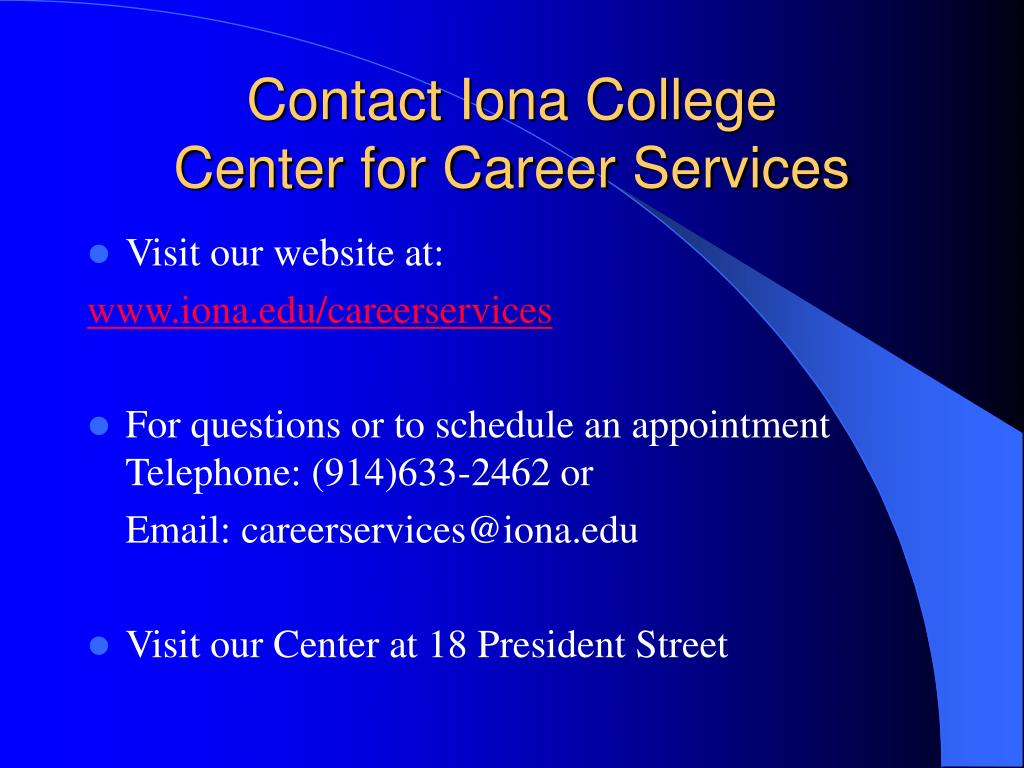 Contact Iona College