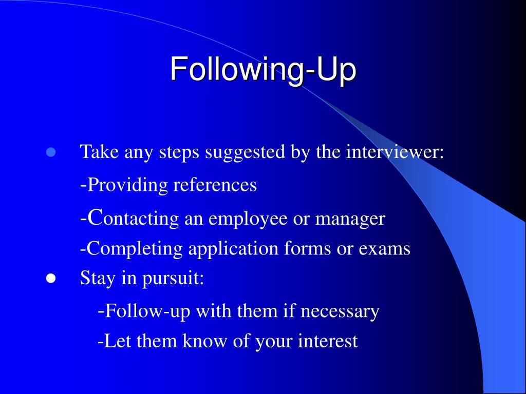Following-Up