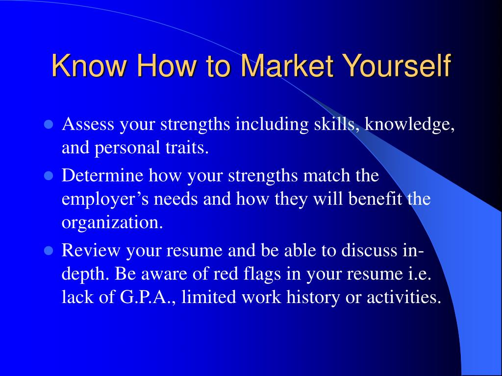 Know How to Market Yourself