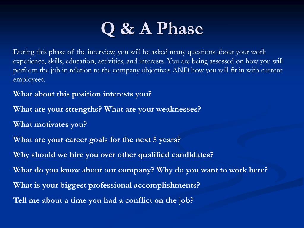 Q & A Phase