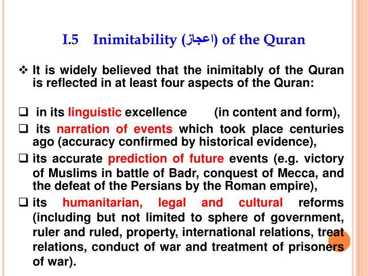 I.5    Inimitability (