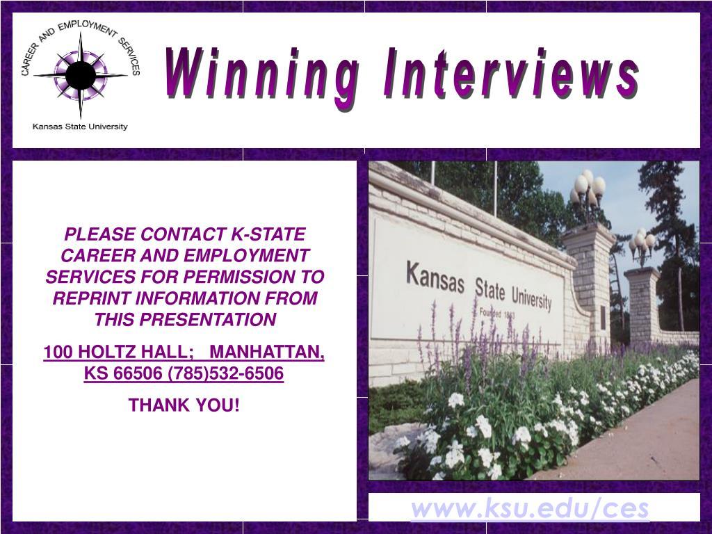 Winning Interviews