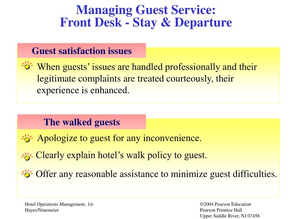 Managing Guest Service: