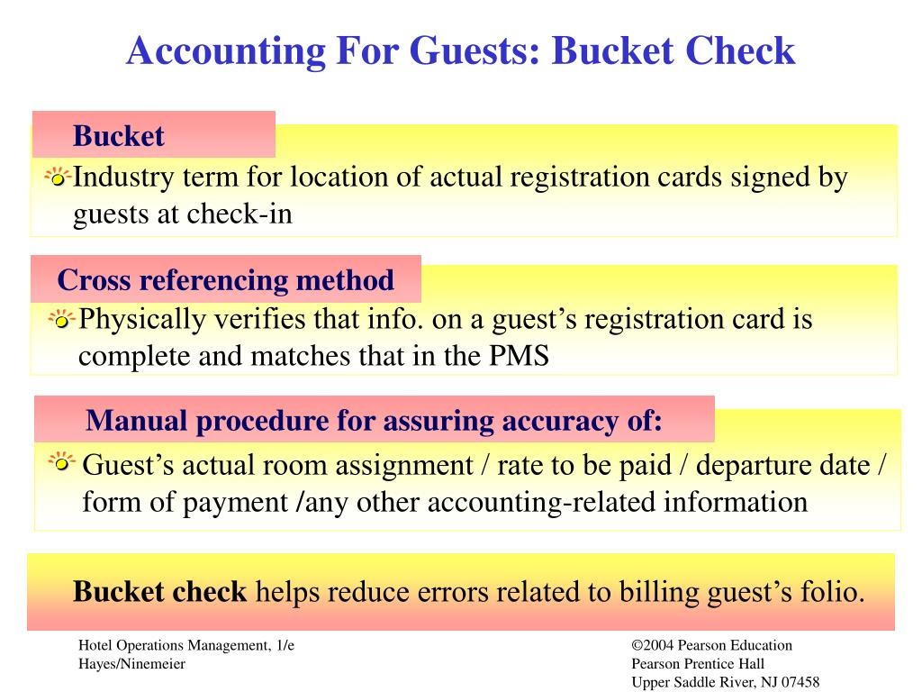 Accounting For Guests: Bucket Check