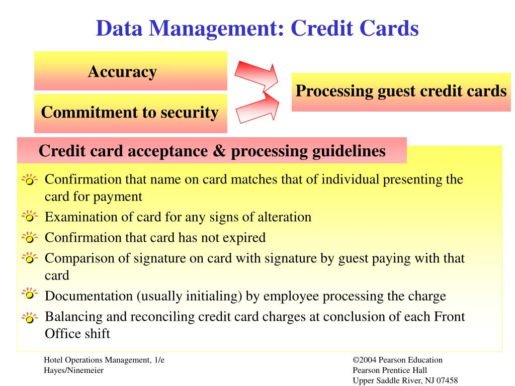 Data Management: Credit Cards