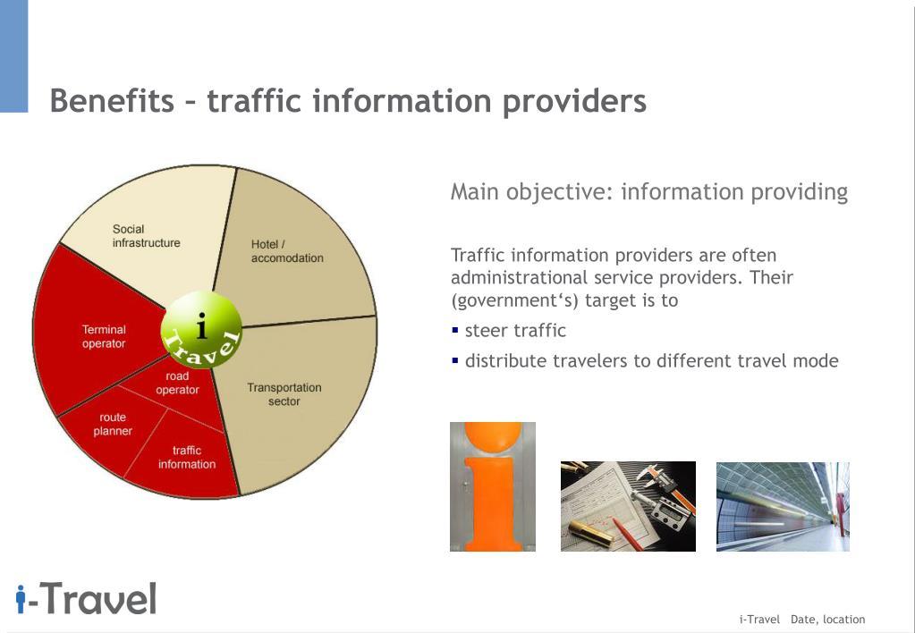 Benefits – traffic information providers
