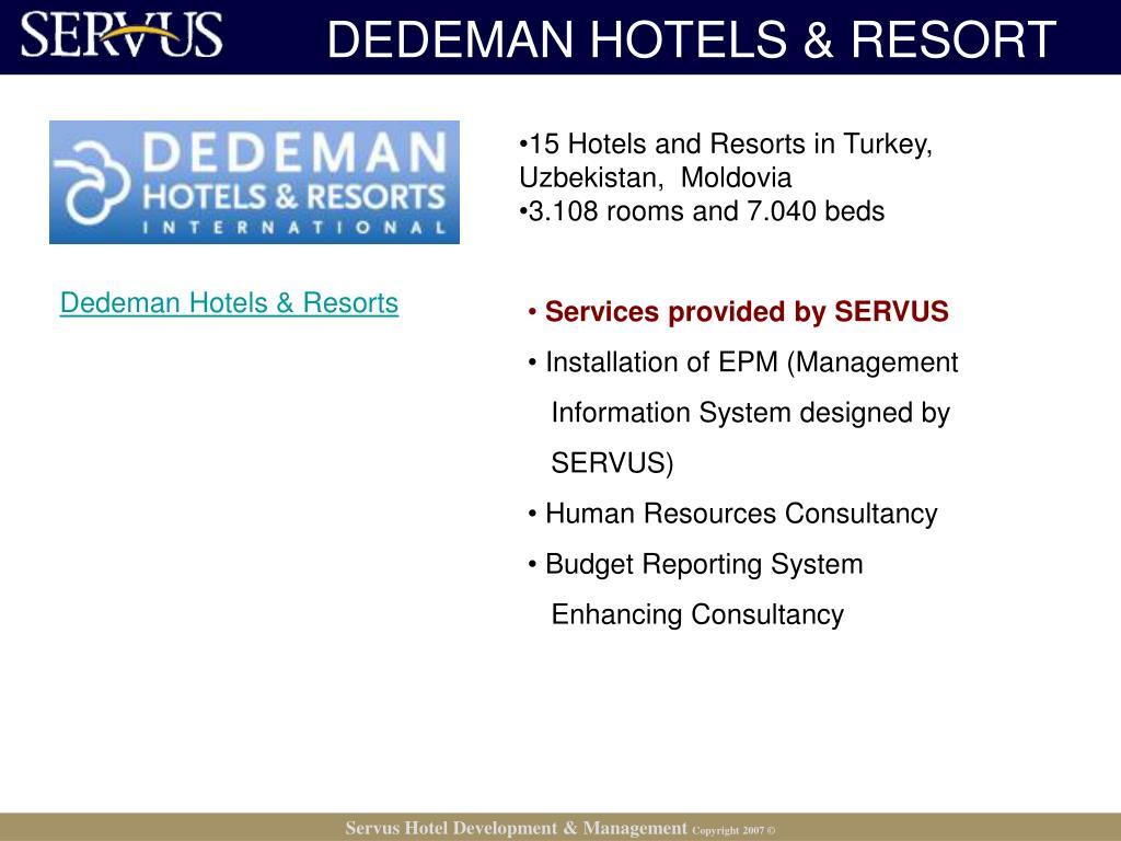DEDEMAN HOTELS & RESORT