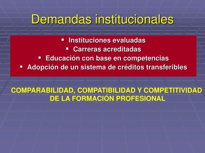 Demandas institucionales