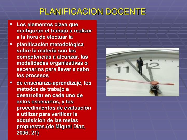 PLANIFICACION DOCENTE