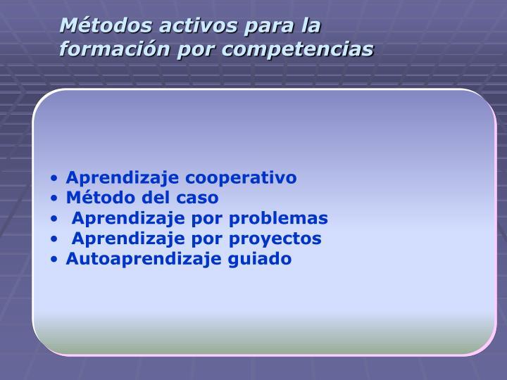 Métodos activos para la formación por competencias