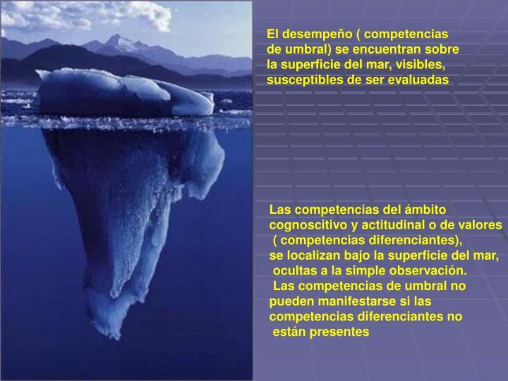 El desempeňo ( competencias