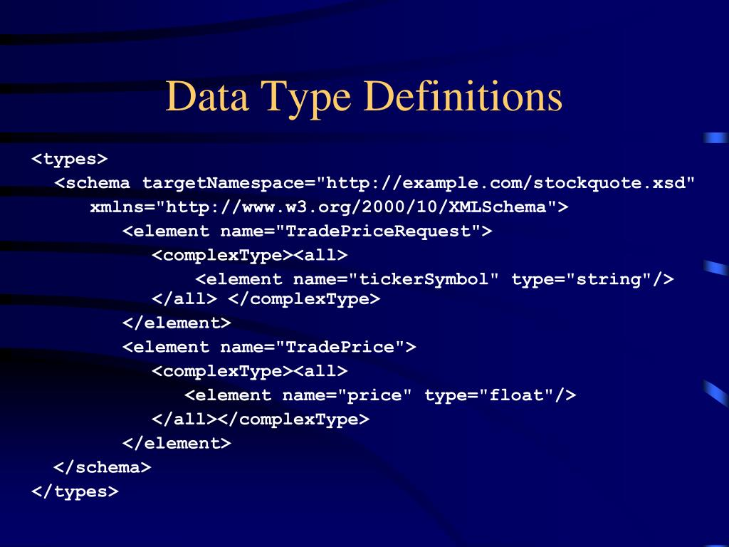 Data Type Definitions