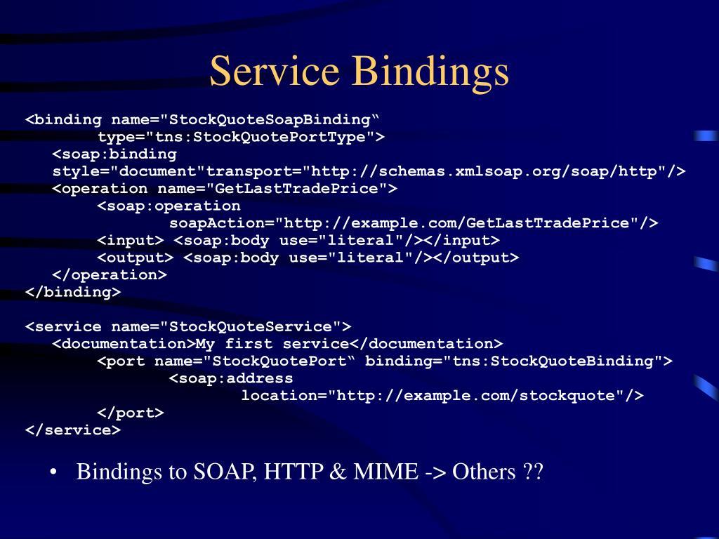 Service Bindings