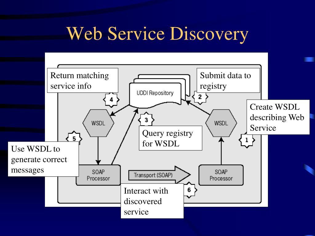 Return matching service info