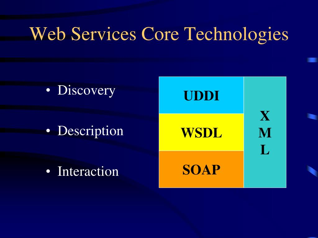 Web Services Core Technologies