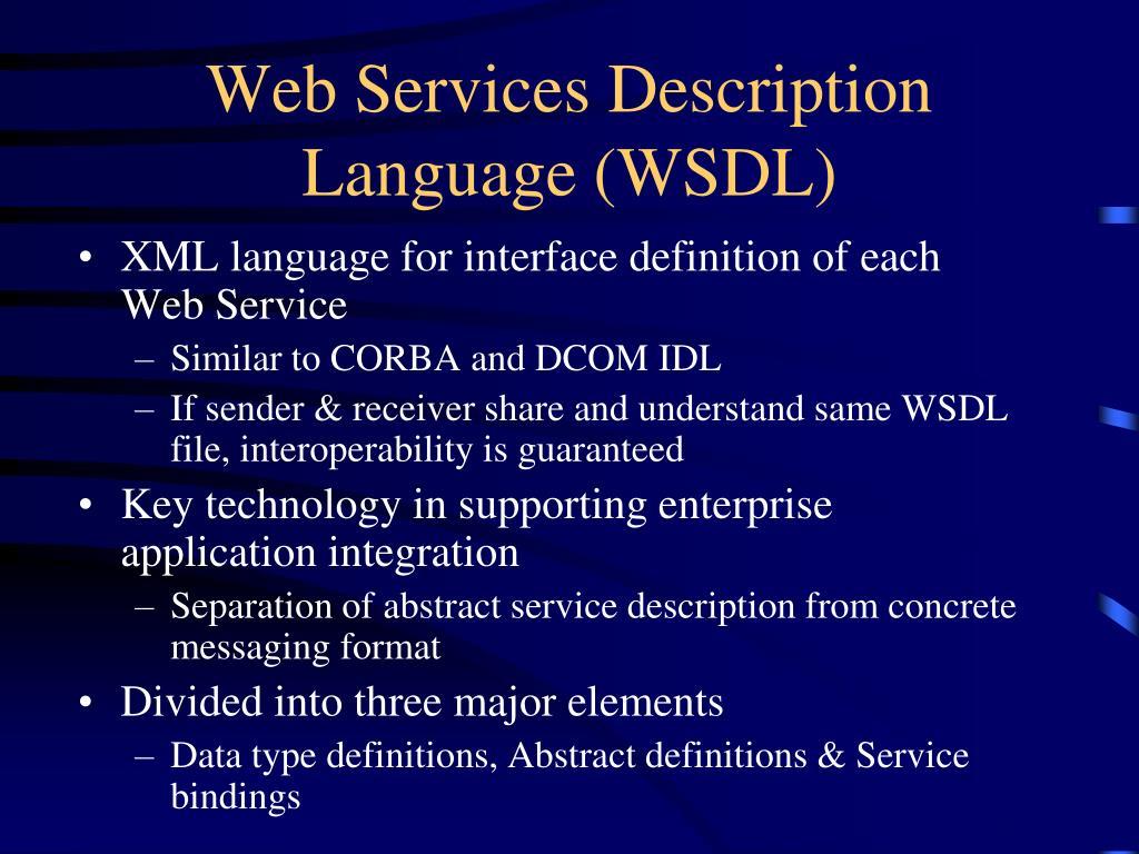 Web Services Description Language (WSDL)