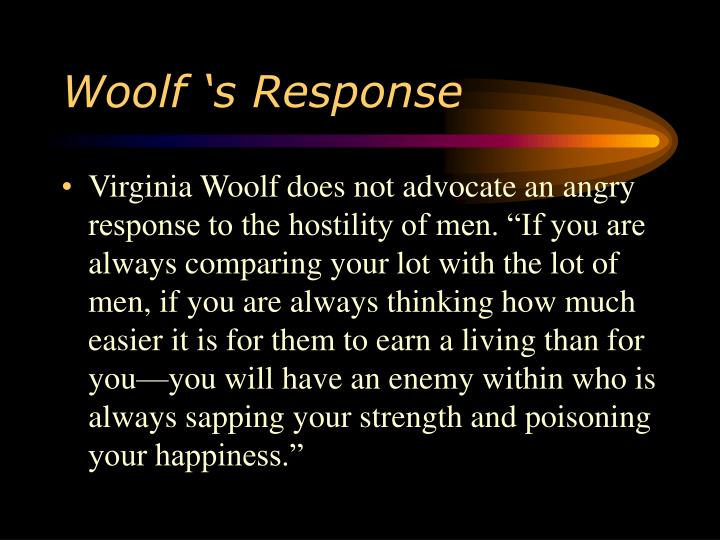 Woolf 's Response