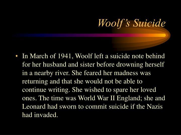 Woolf's Suicide