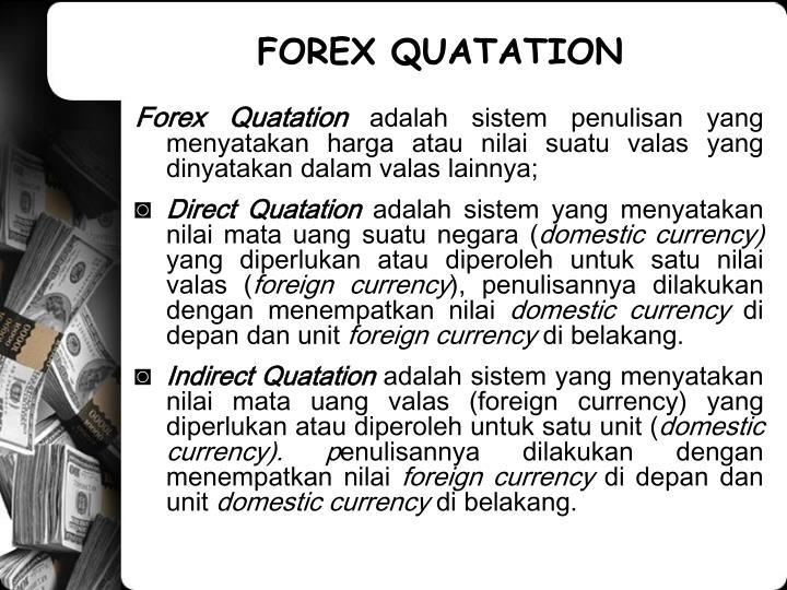 FOREX QUATATION