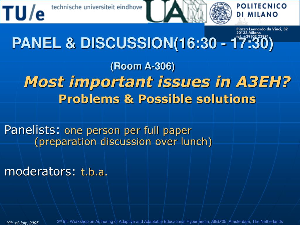 PANEL & DISCUSSION(16:30 - 17:30)