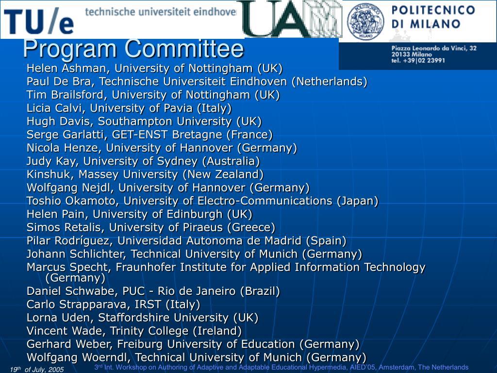 Program Committee