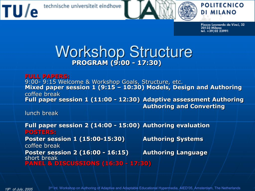 Workshop Structure