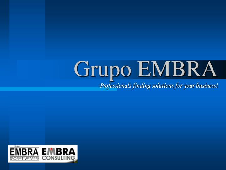 Grupo embra professionals finding solutions for your business