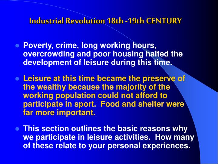 Industrial revolution 18th 19th century