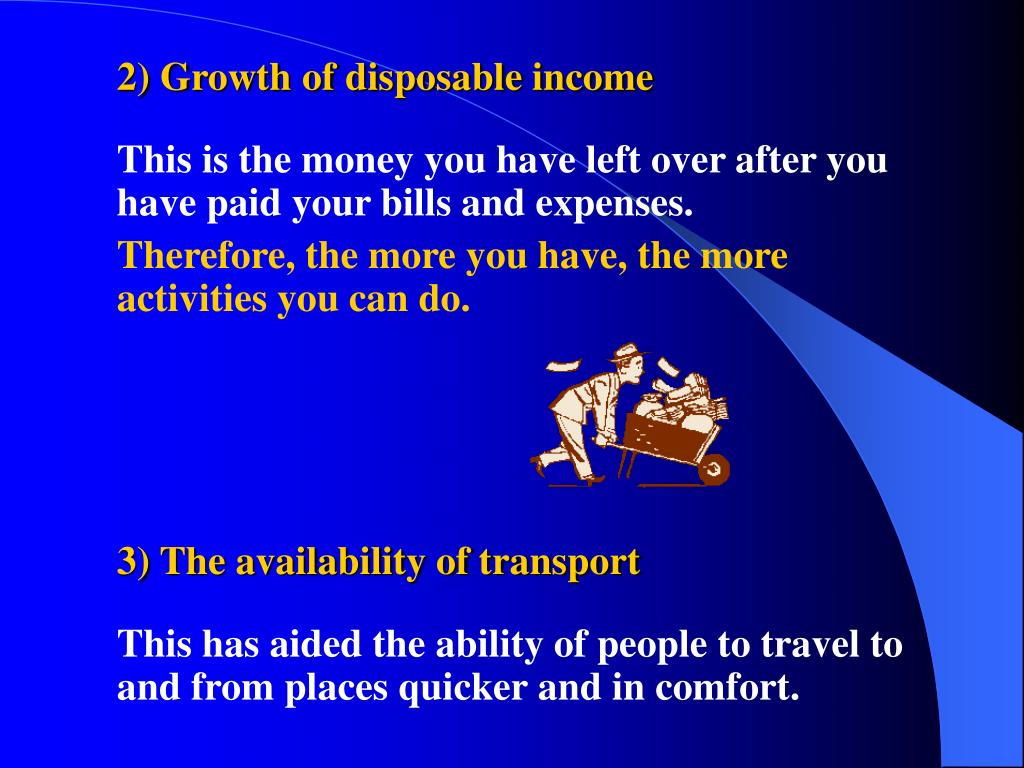 2) Growth of disposable income