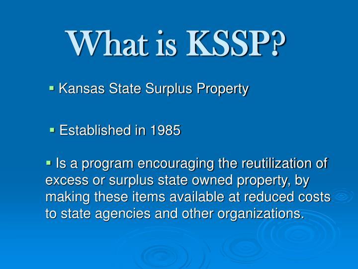 What is KSSP?