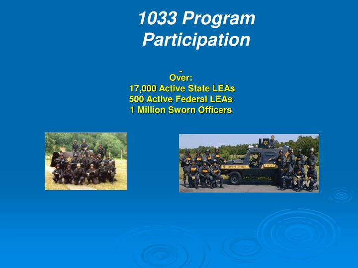 1033 Program Participation